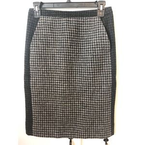 J. Crew Houndstooth Pencil Skirt